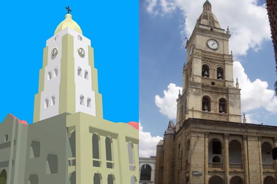 La 3D informatisée, avec Blender et sans Cathedrale_comparaison